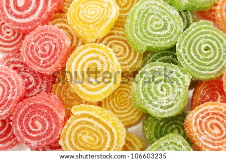 sweet jelly candies, close up
