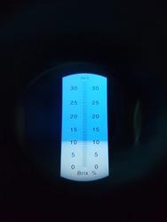 Sweet level on brix meter test