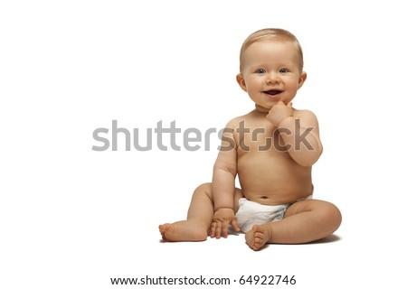 Sweet little boy sitting