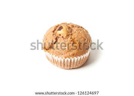 Sweet muffin isolated on a white background