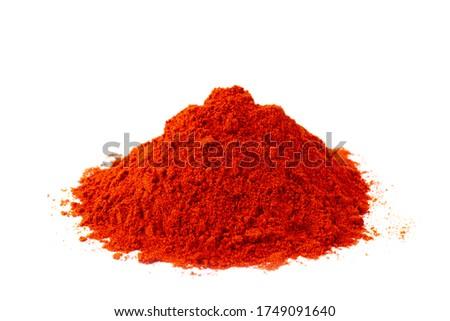 Sweet paprika powder in white natural spice Stockfoto ©