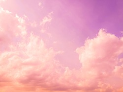 Sweet pastel pink and purple color of sky.​ Pastel sky like cotton candy.