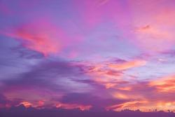 Sweet pastel pink sunset.