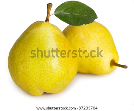 sweet pears isolated on white