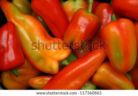 Sweet pepper different colors