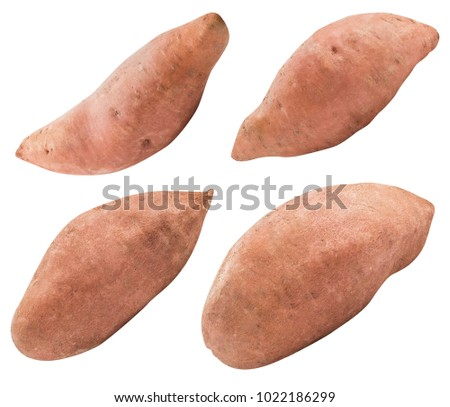 Sweet pink potato isolated on white background  with clipping path #1022186299