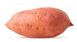 Sweet potato isolated on white background. Clipping Path. Full depth of field.