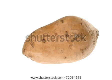 Sweet potato (lat. Ipomoea batatas) isolated on white