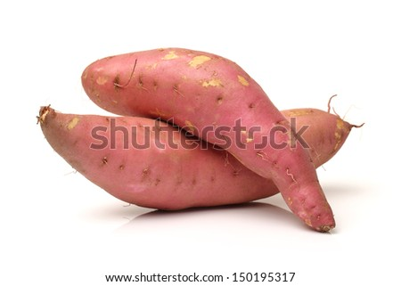 sweet potato on the white background