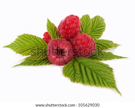 Sweet raspberry on white