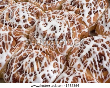 Sweet rolls with frosting