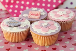 sweet romantic pastel cupcakes