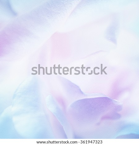 Stock Photo sweet roses in soft color style on mulberry paper texture for valentine's day concept background