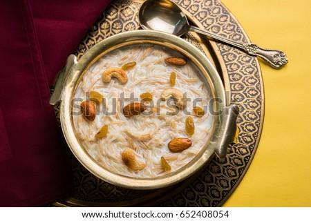 sweet semiya kheer, popular eid recipe