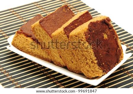 Sweet snack brownie cake