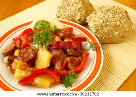 Kielbasa And Sauerkraut. creative turkey kielbasa meal