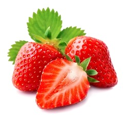 Sweet strawberry on white background.