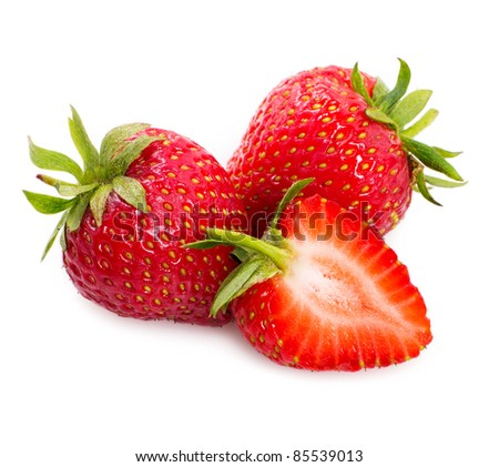 sweet strawberry on white background