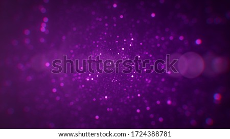 Sweet View Abstract Background Optical Red Purple Bokeh Lights Glitter Sparkle Dust Illustration