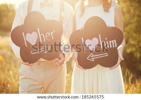 Shutterstock sweet wedding details on the wedding day