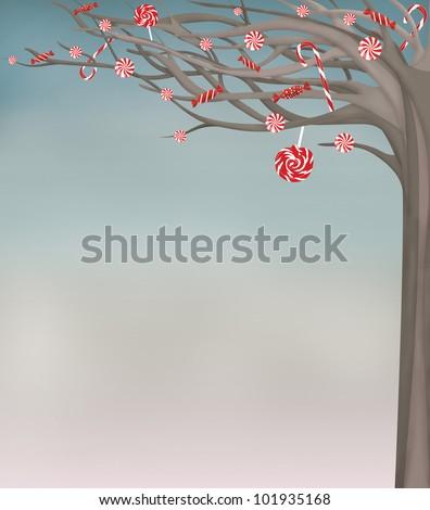sweet winter background - stock photo