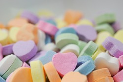 Sweetheart candies for Valentine's Day