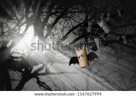 Stock Photo Sweetie bats of Halloween for Halloween concept background. DIY.