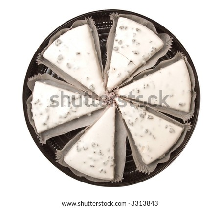 Sweeties with white icing. Top view. Isolated on white.