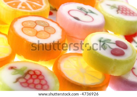 sweets isolated on the white background. candies