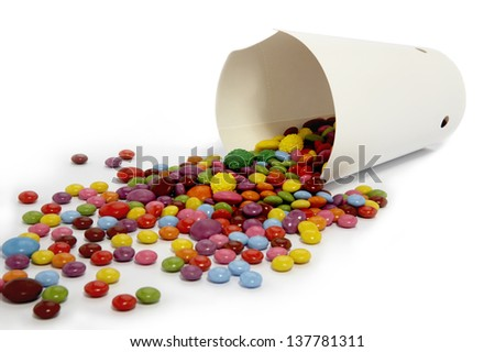 Sweets mixed selection multi colored background sweet food