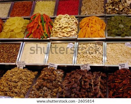 sweets on a market - Mercat de la boqueria (La Rambla), Barcelona
