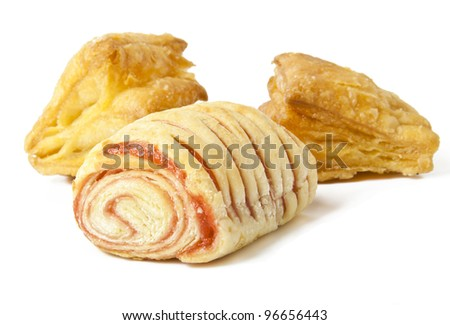 Sweets on a white background