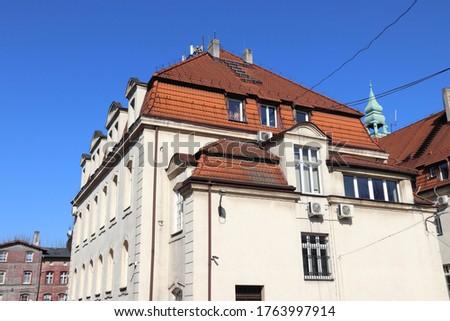 Swietochlowice City Hall (Urzad Miasta) in Silesia region, Poland. Zdjęcia stock ©