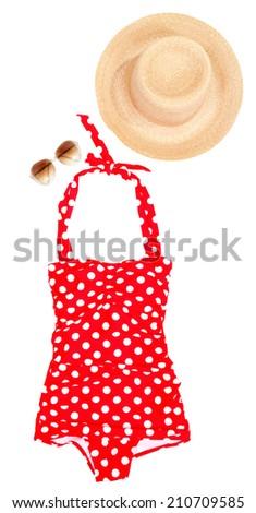 swim suit and summer accessories