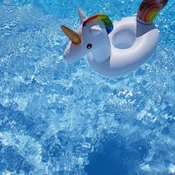 swiming pool unicorn water summer hollidays background