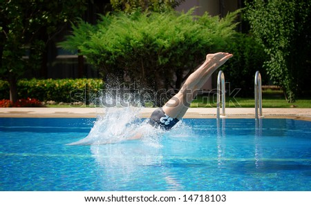 Swimmer - stock photo