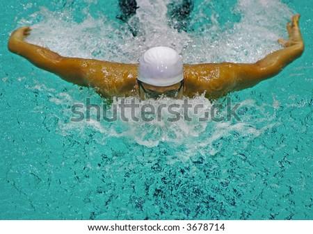 swimmer butterfly