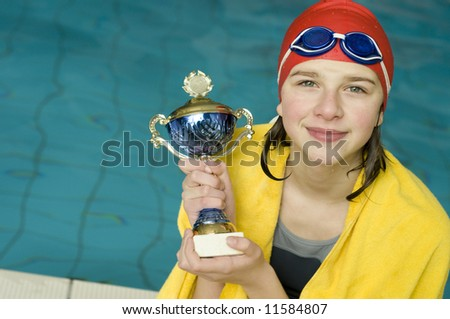 Swimming competition winner