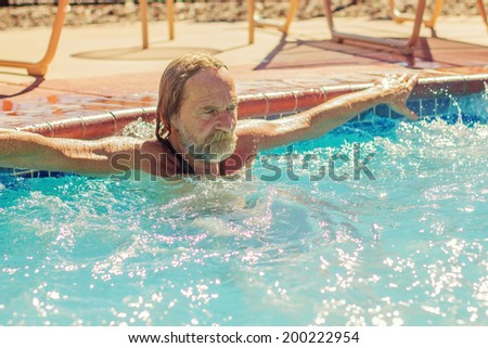 Photo of Swimming in a pool on a hot day -- image taken in Reno, Nevada, USA