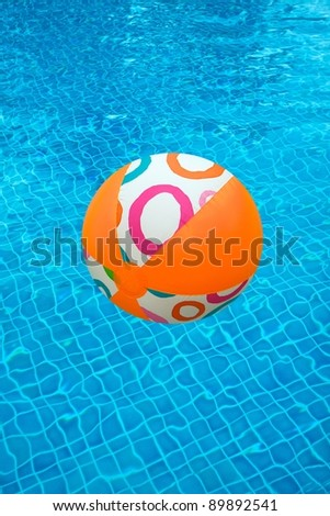 Swimming Pool and a beach ball