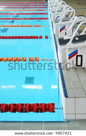 Swimming pool and empty lanes