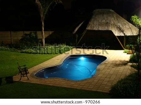 Swimming Pool And Lapa At Night Stock Photo 970266 : Shutterstock
