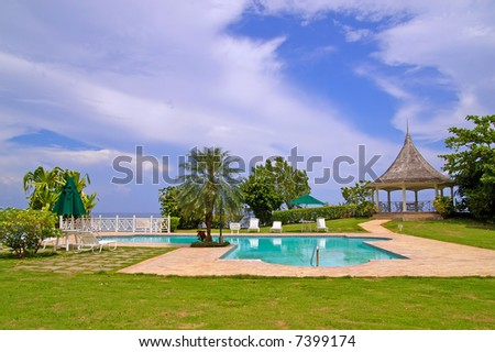 swimming pool at beachfront property