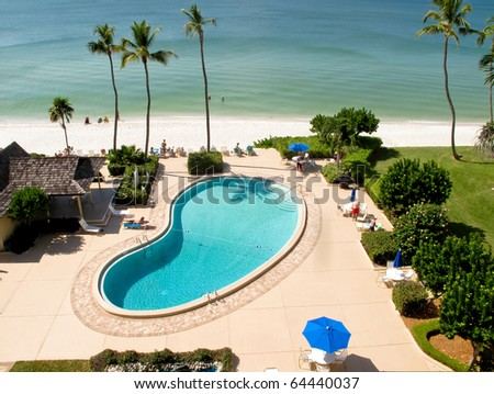 Swimming pool at the oceanside