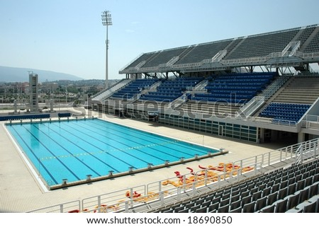Swimming Pool At The Olympic Stadium In Athens Greece Stock Photo 18690850 Shutterstock