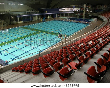 Swimming Pool at the Olympic Stadium in Montreal (Quebec), Canada