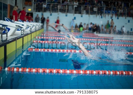 Swimming pool competitions #791338075