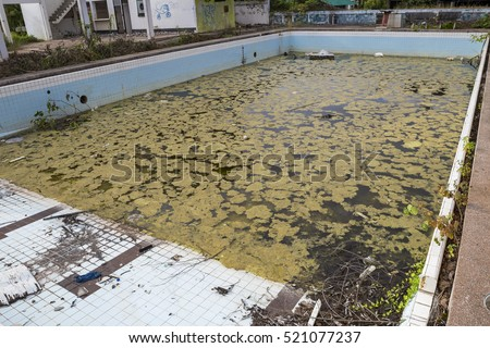 Swimming pool damage, swimming pool renovation, ugly pool, dirty pool