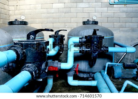 Swimming pool filtration systems sand filters Especially system are high-rate sand filters. Sand filters consist of a large tank, made of fiberglass #714601570