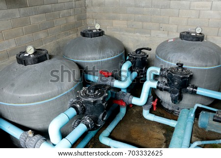 Swimming pool filtration systems sand filters Specially system are high-rate sand filters. Sand filters consist of a large tank, made of fiberglass #703332625